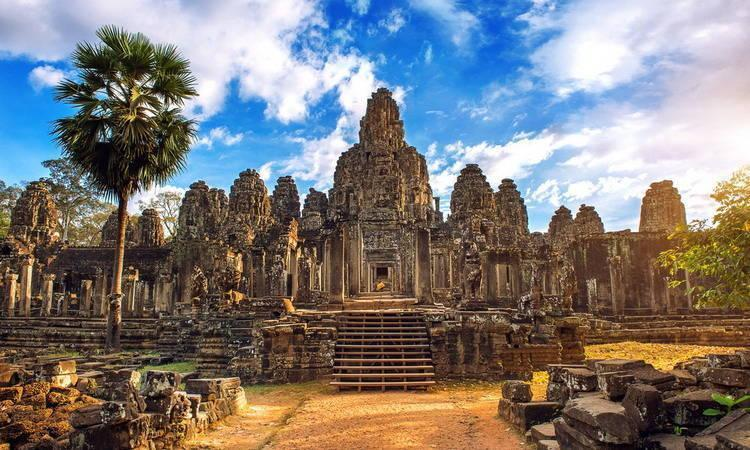 Angkor Thom Temple in Siem Reap Cambodia