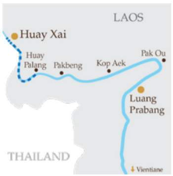 Travel Map by RV Anouvong Cruise