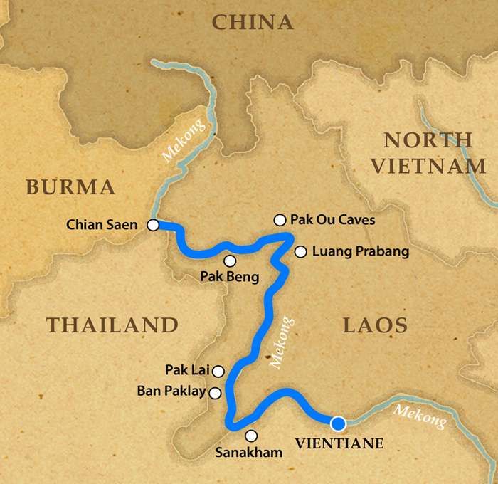 Vientiane to Chiang Khong by Pandaw Photos