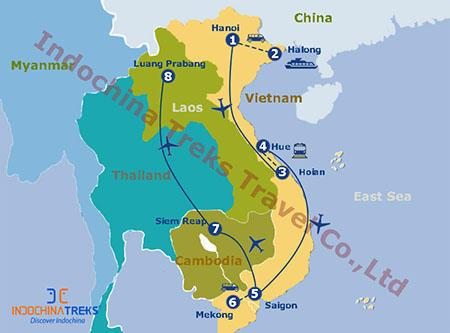 Information for Highlights of Vietnam Cambodia Laos Tour